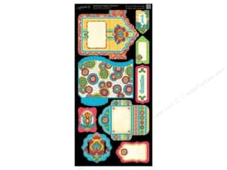 Punches Weekly Specials: Graphic 45 Cardstock Shapes Tags & Pockets Bohemian Bazaar