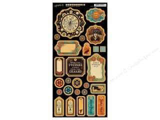 Graphic 45 Die Cut Chipboard Steampunk Spells 1