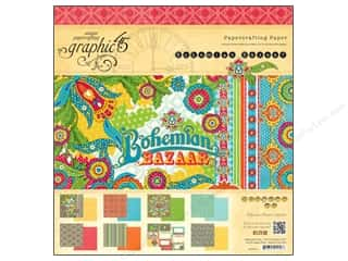 "Graphic 45 Graphic 45 Paper Pad Collections: Graphic 45 Paper Pad 12""x 12"" Bohemian Bazaar"