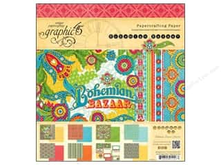 Papers 8 x 8: Graphic 45 Paper Pad Bohemian Bazaar 8 x 8 in.