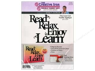 Creative Iron, The Clearance Patterns: Creative Iron Fuse Applique Nancy Zieman Read Relax Enjoy Learn