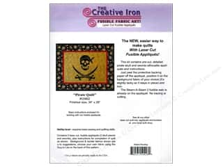 Creative Iron, The Clearance Patterns: Creative Iron Pirate Quilt Applique & Pattern 34 x 28 in.