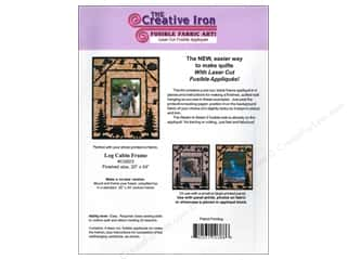 Books & Patterns $20 - $40: Creative Iron Log Cabin Frame Applique & Pattern 20 x 24 in.