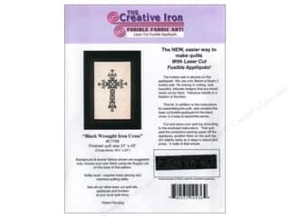 Fabric $12 - $24: Creative Iron Black Wrought Iron Cross Applique & Pattern