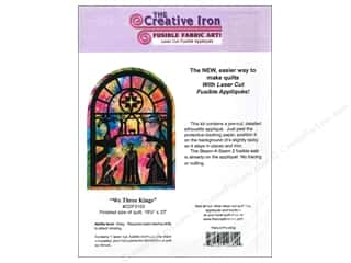 "Books & Patterns 12"": Creative Iron We Three Kings Applique & Pattern 16 1/2  x 23 in."