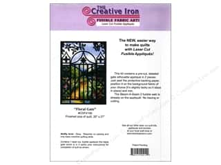 Gardening & Patio Clearance Patterns: Creative Iron Floral Gate Applique & Pattern