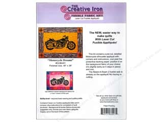 Transportation: Creative Iron Motorcycle Dreams Applique & Pattern 40 x 28 in.