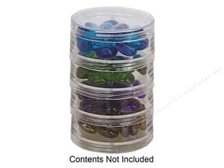 Creative Options Scrapbooking: Creative Options Organizer Four-Stack Jar Bead Organizer (3 pieces)