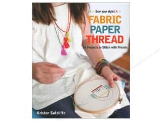 Fabric Paper Thread Book