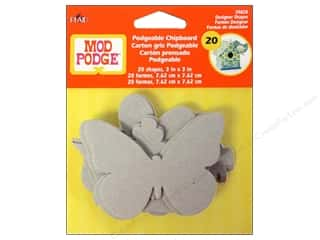 Chipboard Chipboard Embellishments: Plaid Mod Podge Podgeable Chipboard Shapes 20pc