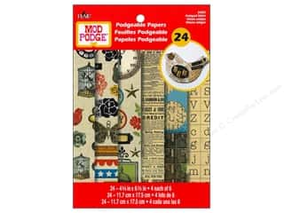 Plaid Mod Podge Podgeable Papers Antiqued Urban