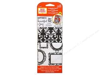 Plaid Mod Podge Podgeable Papers Damask Blk/Wht