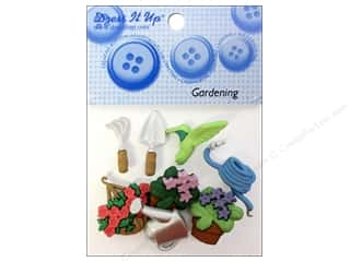 Gardening & Patio Scrapbooking & Paper Crafts: Jesse James Dress It Up Embellishments Gardening