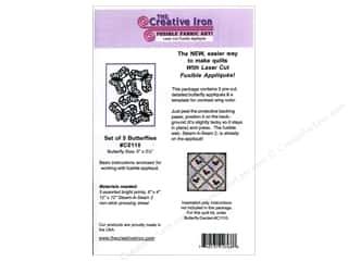 Creative Iron, The Creative Iron Fuse Appliques: Creative Iron Fuse Applique Small Butterflies 5pc