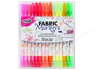 Tulip Fabric Marker Dual Tip Assorted 30pc