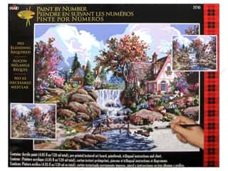 "Crafting Kits Plaid Paint By Number: Plaid Paint By Number 16""x 20"" Angel Falls"