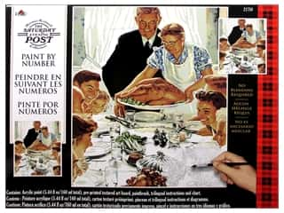 "Craft & Hobbies Family: Plaid Paint By Number 16""x 20"" Saturday Evening Post Freedom From Want"