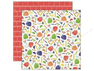 Back To School Echo Park 12 x 12 in. Paper: Echo Park 12 x 12 in. Paper Paper & Glue Collection Back To School (25 pieces)