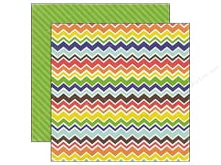 Echo Park Paper Company Back To School: Echo Park 12 x 12 in. Paper Paper & Glue Collection Classy Chevron (25 pieces)