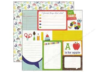 Clearance Blumenthal Favorite Findings: Echo Park 12 x 12 in. Paper & Glue Journaling Card (25 piece)