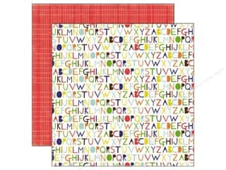 Echo Park 12 x 12 in. Paper & Glue Alphabet (25 piece)