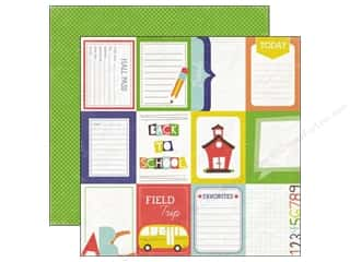 Clearance Blumenthal Favorite Findings: Echo Park 12 x 12 in. Paper & Glue Hall Pass (25 piece)