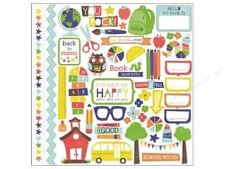 Flowers Back To School: Echo Park Sticker 12 x 12 in. Paper & Glue Collection Element (15 sets)