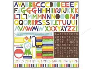 alphabet stickers: Echo Park Sticker 12x12 Paper & Glue Alphabet (15 set)