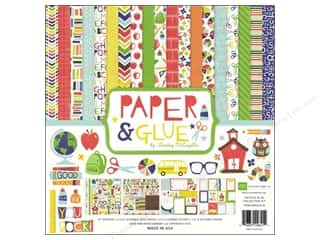 Border Stickers / Corner Stickers: Echo Park Collection Kit 12x12 Paper & Glue