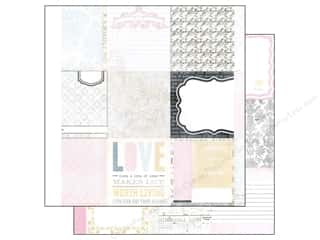 "Melissa Frances Captions: Melissa Frances Paper 12""x 12"" Classic Elegance Accordion Album Sheet (12 pieces)"