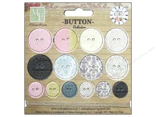 Melissa Frances Chipboard Elegance Btn 14pc