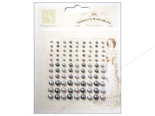 Melissa Frances Sticker Pearls Pewter