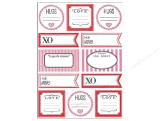 Valentine's Day Clearance Crafts: SRM Press Sticker Labels by Dozen Valentine