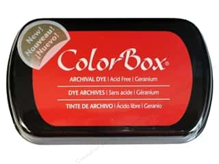ColorBox ColorBox Archival Dye Inkpad Full Size: ColorBox Archival Dye Inkpad Full Size Geranium