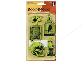 Clearance Blumenthal Favorite Findings: Inkadinkado InkadinkaClings Rubber Stamp Nevermore