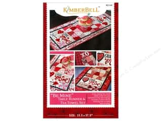 Gingham Girls Table Runners / Kitchen Linen Patterns: Kimberbell Designs Patterns Be Mine Table Runner & Tea Towel Set Pattern