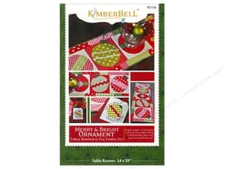 Merry & Bright Ornament Runner & Tea Towel Set Pattern