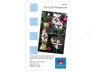 Ornaments Hearts: Tea Leaf Ornaments Pattern by Poorhouse Quilt Design