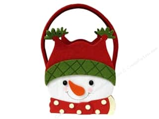 "Outdoors Felting: Sierra Pacific Decor Felt Bag With Handle 6.5""x 8""x 3"" Snowman"