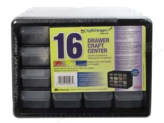 Craft Design Craft Center Organizer 16 Drawer Black