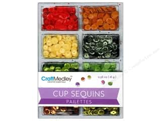 Sequins Green: Multicraft Cup Sequins 7mm Citrus 16gm