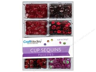 Trays Basic Components: Multicraft Cup Sequins 7mm Rouge 16gm
