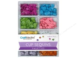 Multi's Embellishment  Yarn 7mm: Multicraft Cup Sequins 7mm Baby 16gm