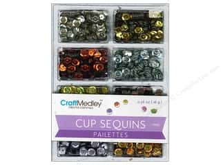 Metal Basic Components: Multicraft Cup Sequins 7mm Dazzle Metallics 16gm