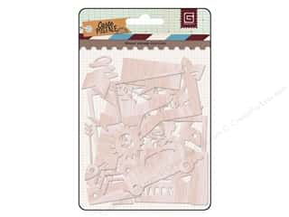Wood Clearance Crafts: BasicGrey Wood Veneer Shapes Carte Postale