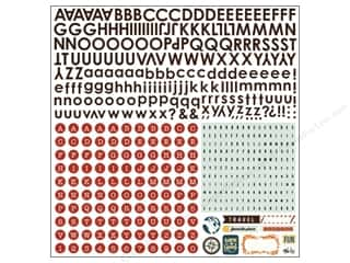 Stickers Stickers: BasicGrey Alphabet Stickers Carte Postale