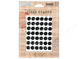 ABC & 123 Clear: BasicGrey Clear Stamps 48 pc. Carte Postale Alphabet Keyboard