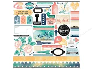 Carta Bella Sticker 12 x 12 in. Hello Again Element (15 set)