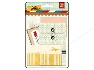 Buttons Vacations: BasicGrey Mini Envelopes 5 pc. Carte Postale