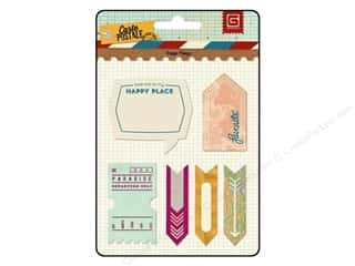 Note Cards Vacations: BasicGrey Page Flags 5 pc. Carte Postale